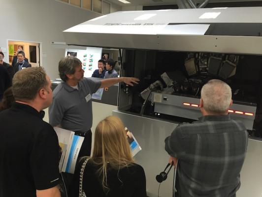 Komori Impremia IS29 cutsheet inkjet UV press