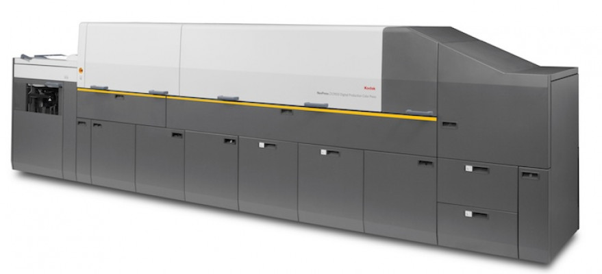 The Kodak NexPress ZX3900 digital production color press.