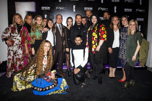 The designers at the Epson Digital Couture event.