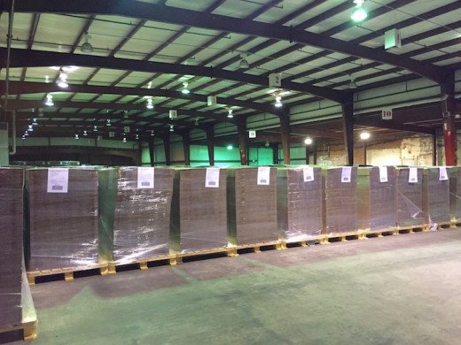 Sutherland Packaging's new 19,000-square-foot warehouse in Newton, New Jersey.