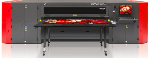 The EFI VUTEk H2000 Pro printer with a double-white ink option.