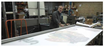 Production Manager Dave Drnek at the Foster Proteus workbench and Javelin Integra cutter.