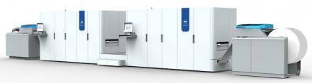 The Océ ColorStream 6000 Chroma continuous-feed inkjet press.
