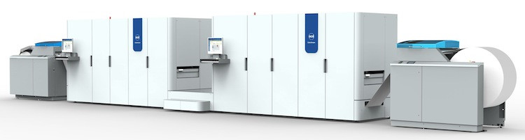The Océ ColorStream 6000 Chroma continuous-feed inkjet press.