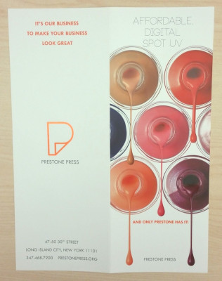 This brochure highlights what is possible using digital spot UV.