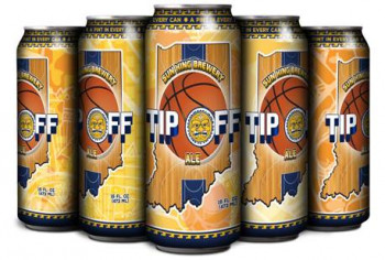 Sun King Brewery partnered with Century Label, which used HP digital printing technology to produce custom basketball-themed graphics for a seasonal beer.
