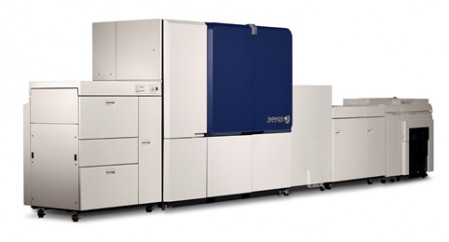 Another view of the Xerox Brenva HD production inkjet press.