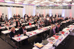 About 100 trade journalists from all over the world — including Napco Media's Printing and Packaging Group — gathered for a preview of some of the innovations that will debut at drupa.