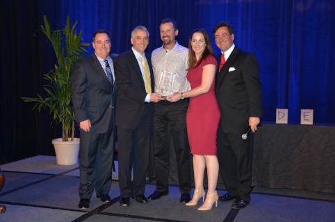 From the left, Mark Subers, <em>Printing Impressions</em>; David Pesko, nGage Events; Michael Poulin, Canon Solutions America; Tonya Powers, Canon Solutions America; and Philip McKay, nGage Events.