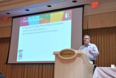 Keynote speaker Hans Ulland of AMS discussed value-added process development.