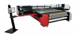 The 105.9˝ (2.69 m) Jeti Mira flatbed printer with moving gantry is built for heavy industrial workloads and produces outstanding quality.