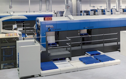 The over 30m-long Rapida 145 with double-pile delivery and automated logistics is expected the be the longest sheetfed offset press on show at drupa 2016.