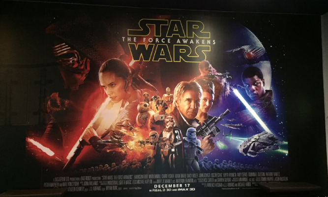 Star Wars-themed printed promotional material.
