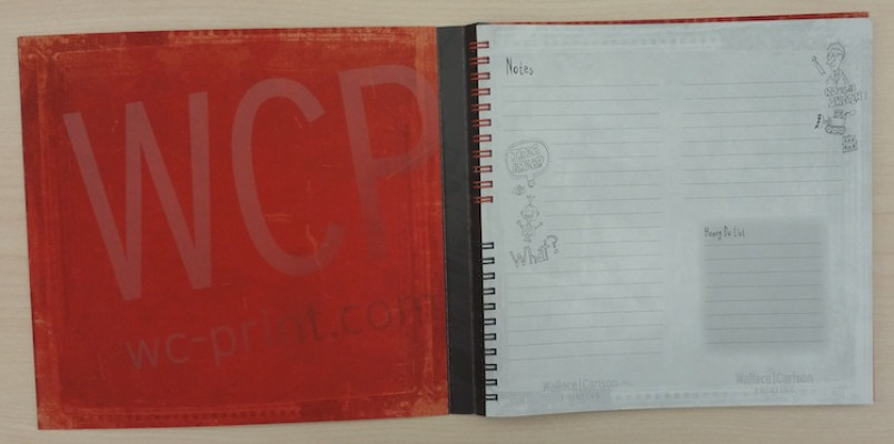 The second booklet was created for writing down notes and ideas.