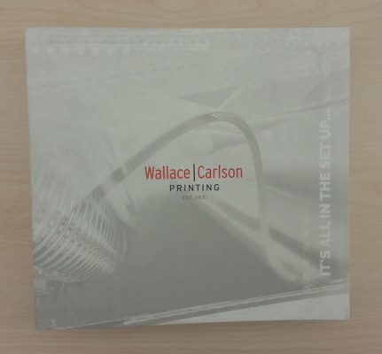 This promotional piece from Wallace Carlson Printing is a clever self-promotional piece that highlights the capabilities of the company and its employees.