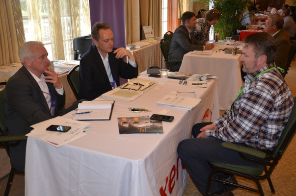 An attendee meeting with Xerox for a one-on-one discussion.