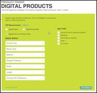 Mohawk wide-format inkjet products are now easily searchable via Mohawk's Digital Product Selector by media or ink type.