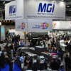 A glimpse of the MGI booth at drupa 2012 in Düsseldorf, Germany.