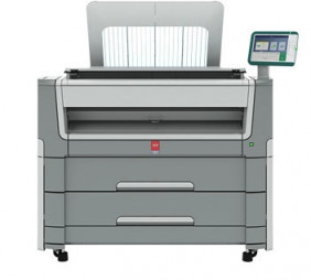 The Océ PlotWave 450 large-format monochrome printing system.