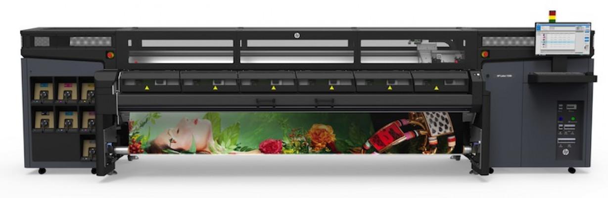 The HP Latex 1500 printer.
