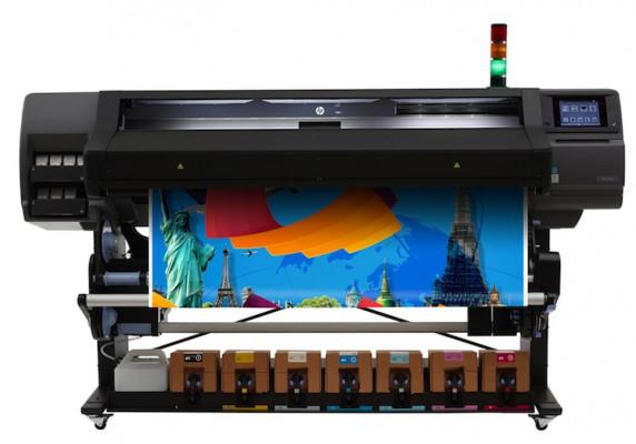 The HP Latex 570 printer.