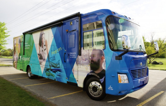 Over the course of 25 weeks, the Vistaprint RV will visit 22 cities in 18 states to learn more about small businesses and the way they market themselves.