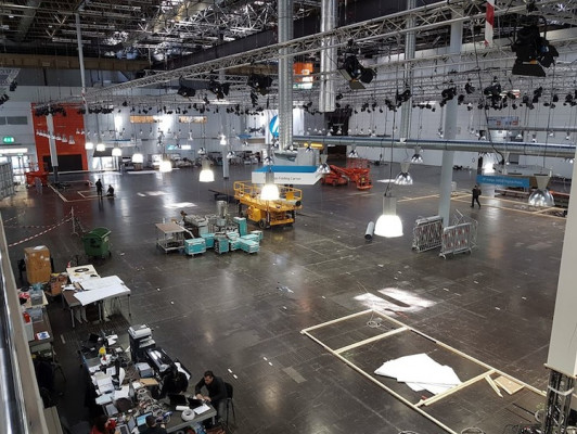 Hall 17 during the early stages of buildup.