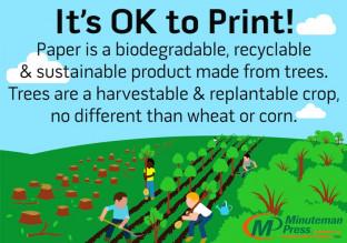 Minuteman Press Sustainability Infographic