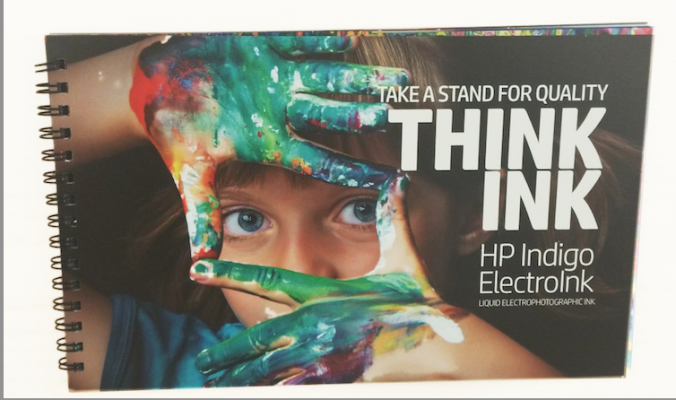 Mohawk Synthetic Paper with i-Tone was the paper used, with HP ElectroInk four-color.