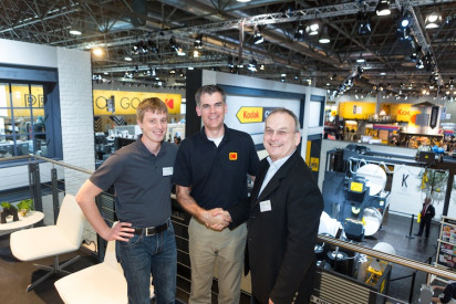 From right to left: Robert Meissner, managing director, head of marketing, Patrick Kerr; Kodak Product Manager, Martin Schottenloher; and managing director, head of sales.