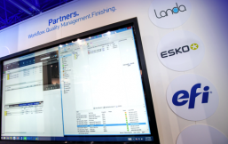 Demonstrating Esko and EFI Integration with Landa DFE at drupa 2016.
