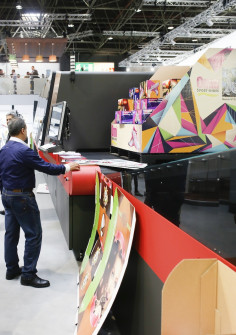 Inkjet printing on corrugated packaging was a surprising theme at drupa 2016.