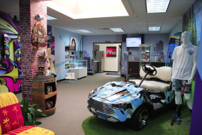 The Creative Gallery in Roland's new Imagination Center.