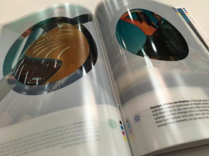 "A close-up of the new AMS UV LED ""Look Book"""