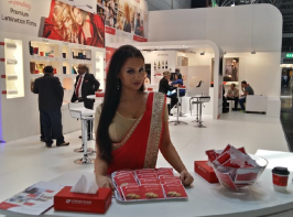 Cosmo Films' booth at drupa.