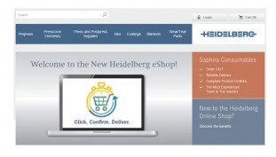 he new Heidelberg eShop provides the basis for attractive e-commerce solutions. On this platform, customers can already order consumables — and, in the future, also selected service parts — around the clock, and the goods will be delivered on the next working day in most cases.