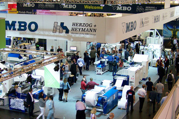 The busy MBO stand at drupa.