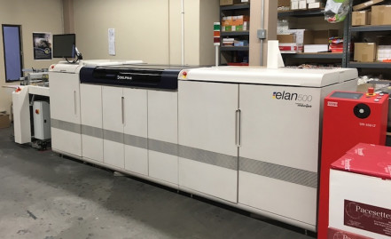 The Delphax elan 500 press powered by Memjet technology plays a key role on the production floor at CompuMail.