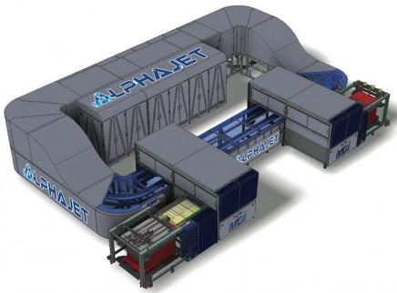 The AlphaJet B1+ sheetfed UV inkjet digital press from MGI.