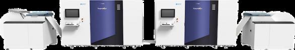 Screen's high-speed Truepress Jet520NX roll-fed inkjet press.
