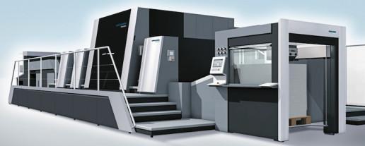 The Primefire 106 industrial inkjet packaging press.