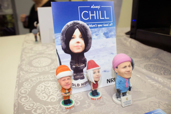 These bobblehead dolls are just one example of NRI's customer creativity.