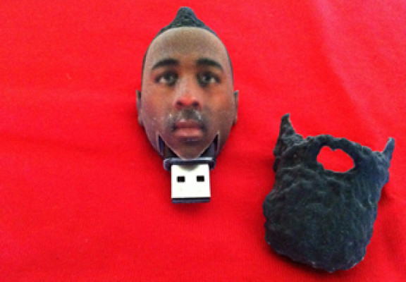 Another creative NRI project: Hoops star James Harden as a flash drive.
