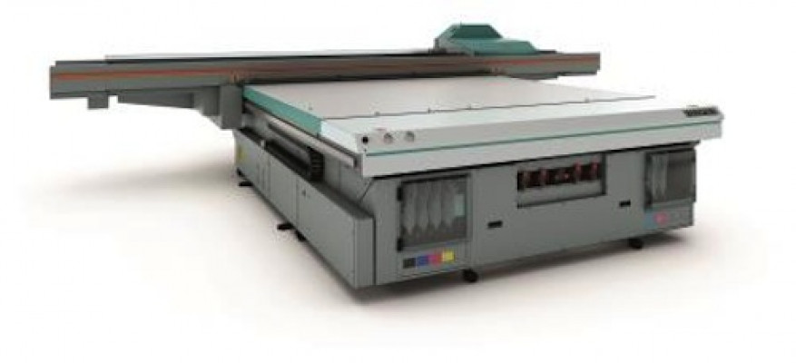 The Acuity F is a productive flatbed model. This UV press produces sharp print quality at speeds up to 1,668 square feet per hour.