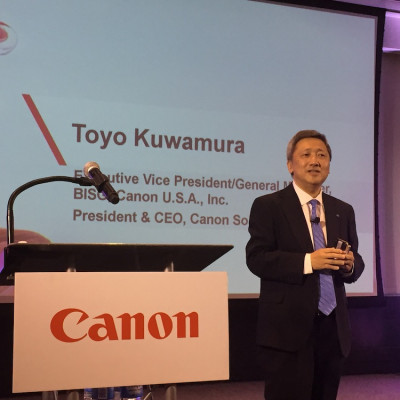 Toyo Kuwamura is the newly appointed executive VP and GM of the Business Imaging Solutions Group (BISG), Canon U.S.A.