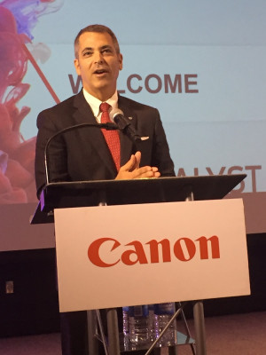 Francis A. McMahon served as Master of Ceremonies during the Press and Analyst Summit.