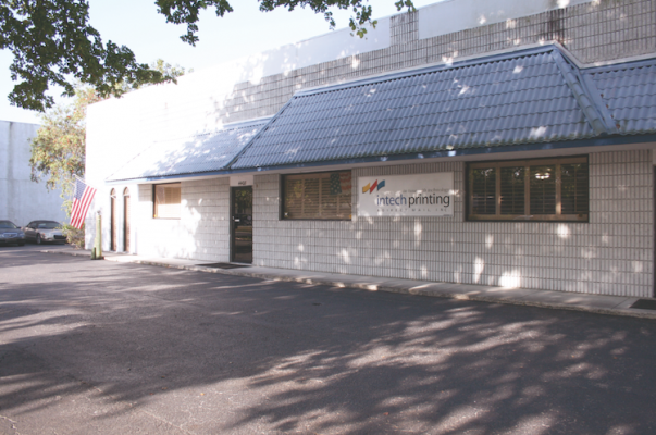 The front of Intech Printing & Direct Mail's building.
