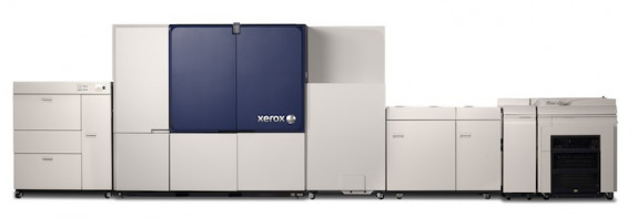 The Xerox Brenva HD Production Inkjet Press is Xeroxís first cut-sheet inkjet press. The press addresses the needs of the transactional, light direct mail and book markets, and offers best-in-class automation and reliability features to maximize press productivity.