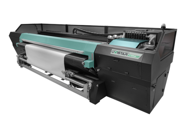 The Uvistar Hybrid 320 3.2m combination flatbed and roll printer.