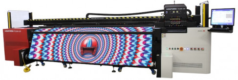 The new 3.2 m wide Anapurna H3200i LED completes the family of hybrid Anapurnas from Agfa Graphics.